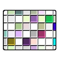 Color Tiles Abstract Mosaic Background Fleece Blanket (small) by Simbadda