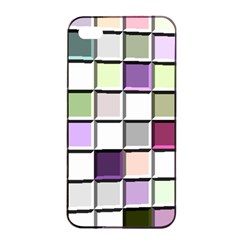 Color Tiles Abstract Mosaic Background Apple Iphone 4/4s Seamless Case (black) by Simbadda