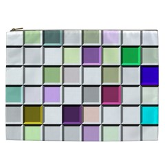 Color Tiles Abstract Mosaic Background Cosmetic Bag (xxl)  by Simbadda