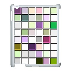Color Tiles Abstract Mosaic Background Apple Ipad 3/4 Case (white)