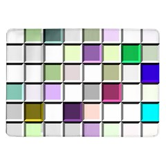 Color Tiles Abstract Mosaic Background Samsung Galaxy Tab 10 1  P7500 Flip Case by Simbadda