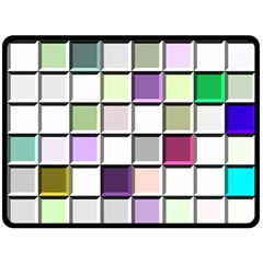 Color Tiles Abstract Mosaic Background Double Sided Fleece Blanket (large)  by Simbadda