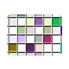 Color Tiles Abstract Mosaic Background Double Sided Flano Blanket (mini)  by Simbadda