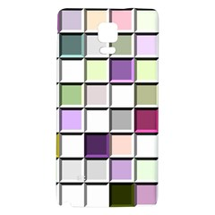 Color Tiles Abstract Mosaic Background Galaxy Note 4 Back Case by Simbadda