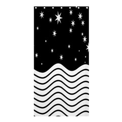 Black And White Waves And Stars Abstract Backdrop Clipart Shower Curtain 36  X 72  (stall)