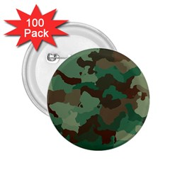 Camouflage Pattern A Completely Seamless Tile Able Background Design 2 25  Buttons (100 Pack)  by Simbadda