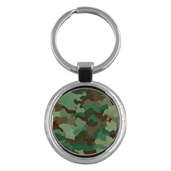 Camouflage Pattern A Completely Seamless Tile Able Background Design Key Chains (round)  by Simbadda