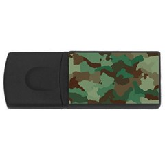 Camouflage Pattern A Completely Seamless Tile Able Background Design Usb Flash Drive Rectangular (4 Gb) by Simbadda