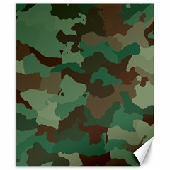 Camouflage Pattern A Completely Seamless Tile Able Background Design Canvas 8  X 10  by Simbadda