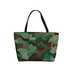 Camouflage Pattern A Completely Seamless Tile Able Background Design Shoulder Handbags by Simbadda