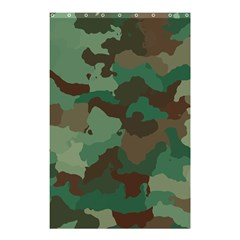 Camouflage Pattern A Completely Seamless Tile Able Background Design Shower Curtain 48  X 72  (small)  by Simbadda