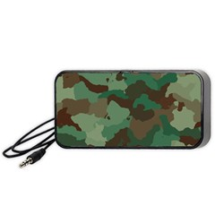 Camouflage Pattern A Completely Seamless Tile Able Background Design Portable Speaker (black) by Simbadda
