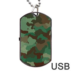 Camouflage Pattern A Completely Seamless Tile Able Background Design Dog Tag Usb Flash (one Side) by Simbadda