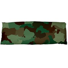 Camouflage Pattern A Completely Seamless Tile Able Background Design Body Pillow Case (dakimakura) by Simbadda