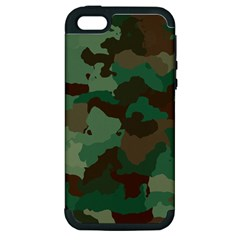 Camouflage Pattern A Completely Seamless Tile Able Background Design Apple Iphone 5 Hardshell Case (pc+silicone) by Simbadda