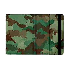 Camouflage Pattern A Completely Seamless Tile Able Background Design Apple Ipad Mini Flip Case by Simbadda