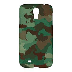 Camouflage Pattern A Completely Seamless Tile Able Background Design Samsung Galaxy S4 I9500/i9505 Hardshell Case by Simbadda