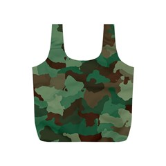 Camouflage Pattern A Completely Seamless Tile Able Background Design Full Print Recycle Bags (s)  by Simbadda