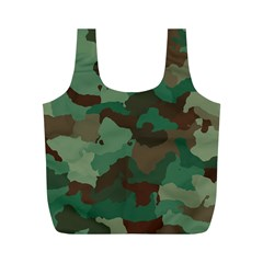 Camouflage Pattern A Completely Seamless Tile Able Background Design Full Print Recycle Bags (m)  by Simbadda