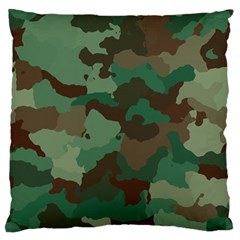 Camouflage Pattern A Completely Seamless Tile Able Background Design Standard Flano Cushion Case (one Side) by Simbadda