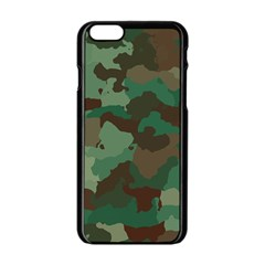 Camouflage Pattern A Completely Seamless Tile Able Background Design Apple Iphone 6/6s Black Enamel Case by Simbadda