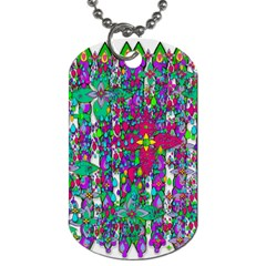 Sunny Roses In Rainy Weather Pop Art Dog Tag (one Side) by pepitasart