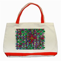 Sunny Roses In Rainy Weather Pop Art Classic Tote Bag (red) by pepitasart