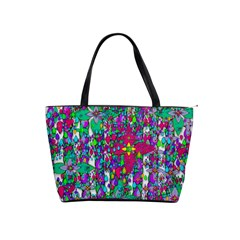 Sunny Roses In Rainy Weather Pop Art Shoulder Handbags