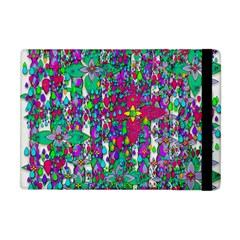 Sunny Roses In Rainy Weather Pop Art Apple Ipad Mini Flip Case by pepitasart