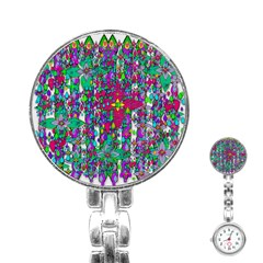 Sunny Roses In Rainy Weather Pop Art Stainless Steel Nurses Watch by pepitasart