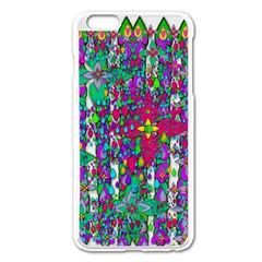 Sunny Roses In Rainy Weather Pop Art Apple Iphone 6 Plus/6s Plus Enamel White Case by pepitasart