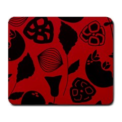 Congregation Of Floral Shades Pattern Large Mousepads by Simbadda
