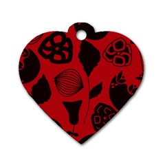 Congregation Of Floral Shades Pattern Dog Tag Heart (one Side) by Simbadda