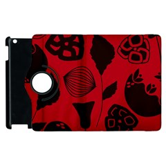 Congregation Of Floral Shades Pattern Apple Ipad 3/4 Flip 360 Case by Simbadda