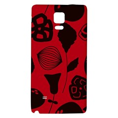 Congregation Of Floral Shades Pattern Galaxy Note 4 Back Case by Simbadda