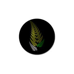 Drawing Of A Fractal Fern On Black Golf Ball Marker (4 Pack) by Simbadda