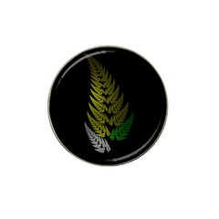 Drawing Of A Fractal Fern On Black Hat Clip Ball Marker by Simbadda
