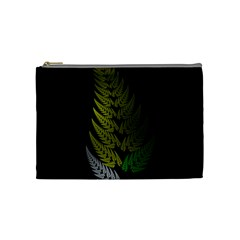 Drawing Of A Fractal Fern On Black Cosmetic Bag (medium)  by Simbadda