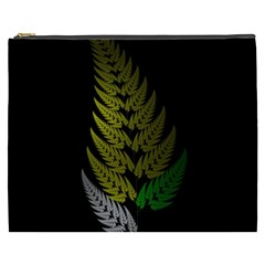 Drawing Of A Fractal Fern On Black Cosmetic Bag (xxxl)  by Simbadda