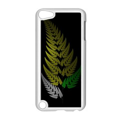 Drawing Of A Fractal Fern On Black Apple Ipod Touch 5 Case (white) by Simbadda