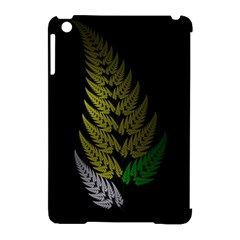 Drawing Of A Fractal Fern On Black Apple Ipad Mini Hardshell Case (compatible With Smart Cover) by Simbadda