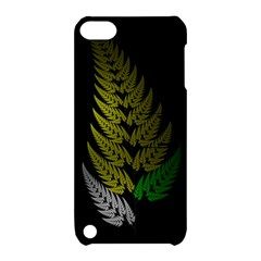 Drawing Of A Fractal Fern On Black Apple Ipod Touch 5 Hardshell Case With Stand by Simbadda