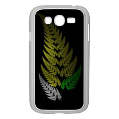 Drawing Of A Fractal Fern On Black Samsung Galaxy Grand Duos I9082 Case (white) by Simbadda