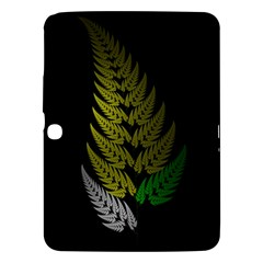 Drawing Of A Fractal Fern On Black Samsung Galaxy Tab 3 (10 1 ) P5200 Hardshell Case  by Simbadda