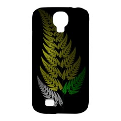 Drawing Of A Fractal Fern On Black Samsung Galaxy S4 Classic Hardshell Case (pc+silicone) by Simbadda