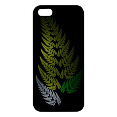 Drawing Of A Fractal Fern On Black Iphone 5s/ Se Premium Hardshell Case