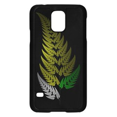 Drawing Of A Fractal Fern On Black Samsung Galaxy S5 Case (black) by Simbadda