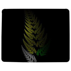 Drawing Of A Fractal Fern On Black Jigsaw Puzzle Photo Stand (rectangular) by Simbadda