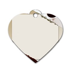 Greeting Card Coffee Mood Dog Tag Heart (one Side)