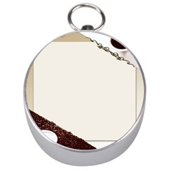 Greeting Card Coffee Mood Silver Compasses